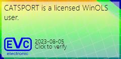 CATSPORT es un usuario de WinOLS con licencia, presione aquí para verificar la licencia.