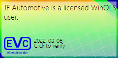 JF Automotive is a licensed WinOLS user