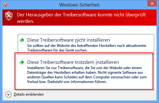 Windows-Sicherheits-Meldung